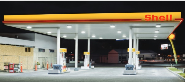 The previous LSI Scottsdale* metal halide fixtures were replaced with LED Gas Station Canopy Lights. & Gas Station Lights Archives - Energy u0026 Water Conservation Blog