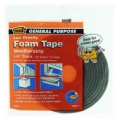 "MD 1/2"" X 1/4"" X 17' Gray Low Denisty Open Cell Foam Tape 02071"