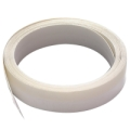 "MD 7/8"" X 17' White V-Flex Weatherstrip 03525"