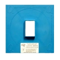 "Electrical Single Gang 1/2"" Raised Plaster Ring Cover Flashing Panel E-SGR"