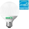 Greenlite 9w G25 Globe CFL Warm White 9W/ELG