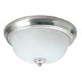 "TCP 30W 13"" Textured Brushed Nickel Fixture w/ Glass Dome 14230BS"