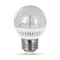 Feit 4.8W BPGM/CL/DM/LED G161/2 Clear Medium Base 3000K