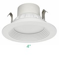 "Maxlite RR-409U-40W LED Downlight Retrofit 9W  4"" Baffle Trim 3000K"