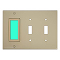 LimeLite 2034 Toggle 3-Gang SideLite Night Light, Ivory