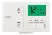 Lux 7 or 5/2-day Programmable Thermostat p711V Vertical Mount