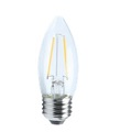 Earthtronics LED 4W Clear Candelabra 2700K E26  Filament LB10427DCFILE26