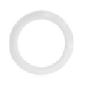 "Maxlite 9"" White Trim Ring RR9- XWHTRING"