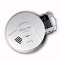 USI 120V Hardwired 5304 Ionization Smoke / Fire Alarm, 9V Battery Backup