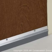 "36"" Triple & Vinyl Aluminum Door Sweep"