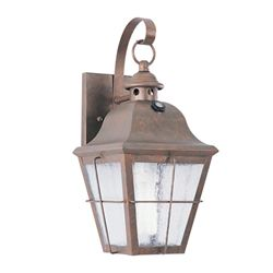 Sea Gull 13W Weathered Copper Colonial Wall-Mount Lantern 89062B-44E