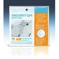 AM Electrical Outlet Child Safety Caps Plug AMSC001 - 18 Pack