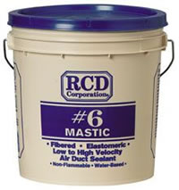 RCD #6 1-Gallon Mastic Duct Sealing Bucket