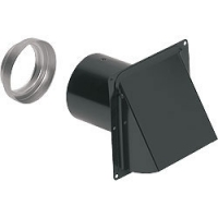 "Broan Wall Cap 885BL,3"" or 4"" round duct, backdraft damper,bird screen"
