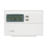 Lux 5-2 day Programmable Thermostat PSP511C 1 Heating 1 Cooling (10 pack)