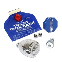 Water Conservation Kit with Shower head,Faucet Aerator,Swivel Aerator,Toilet Bank