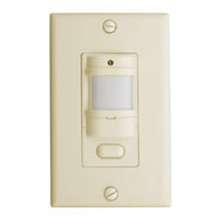 Hubbell Ivory Motion Sensing Wall Switch 120/277 IWS-ZP-3P-I