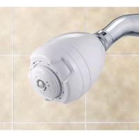 AM Conservation 2.0 gpm White Showerhead SH030WCR