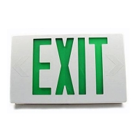 TCP 2W Green LED Exit Sign BBUP with White Housing 22745