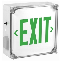 TCP Green Wet Location LED Exit Combination Sign 23501