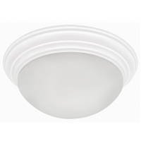 "TCP 14"" White Step Base Ceiling Fixture 11836WHGUBULK6 - 6 Pack"