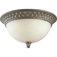 Progress Lighting 2-Light Close-To-Ceiling Fixture Burnished Chestnut P3498-86STRWB