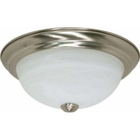Nuvo Lighting 13W 2-Light Flush Fixture w/Alabaster Glass 60-2621