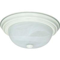 Nuvo Lighting 13W 2-Light Flush Fixture w/Alabaster Glass 60-2628