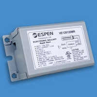 Espen 18W 1-Lamp CFL Quad Electronic Ballast VE118120MR