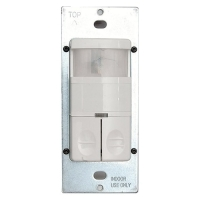 Enerlites Dual Relay PIR Wall Switch Occupancy Sensor, White DWOS-JD-W