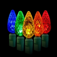 Green Watt 3.5W LED C6 Strawberry Light String, 50 Lite Multi-Color