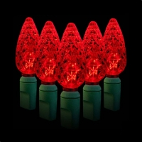 Green Watt 2.4W 35 Lite, C6 Strawberry LED Light String, Red