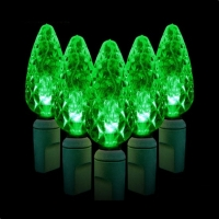 Green Watt 2.4W 35 Lite, C6 Strawberry LED Light String, Green