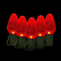 Green Watt 6.5W 50 Lite, C7 LED Light String, Red
