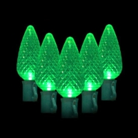 Green Watt 6.5W 50 Lite, C9 LED Light String, Green