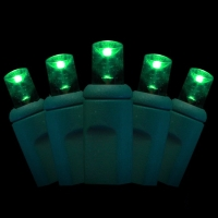 Green Watt 3.5W 50 Lite, Wide Angle 55mm LED Light String, Green