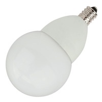 TCP LED4E12G1627KF LED 4W Dimmable Candelabra Frosted G16 Globe 2700K
