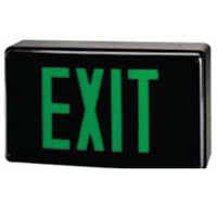 TCP 22749 Green LED Exit Sign Battery Backup Black Housing
