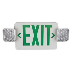 TCP Green Exit Sign with Emergency Lights 20785