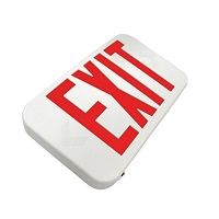 Howard Lighting LED Slimline Thermoplastic Exit Sign Red HL03012RW