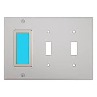 LimeLite 2027 Blue Toggle 3-Gang SideLite Blue Night Light, White