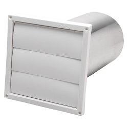 6 in. Wall Louver White Plastic HSG6W/12