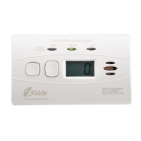 Kidde Sealed Lithium Battery Power Carbon Monoxide Alarm C3010D