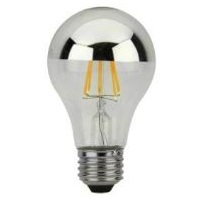 Maxlite Dimmable LED Vintage Filament Lamp Silver Bowl 6.5W 2700K SB6.5A19DLED27