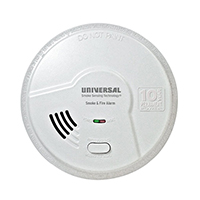 USI Living Area Tamper Proof MPL316S Photoelectric Battery Smart Smoke / Fire Alarm