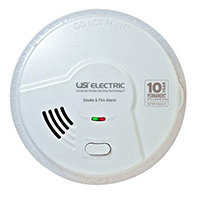 USI 2-in-1 MI106S Hardwired Battery Back-up Universal Smoke / Fire Alarm