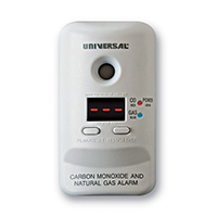 USI MCND401 Smart Plug-In Carbon Monoxide / Natural Gas Alarm with Display, Battery Backup