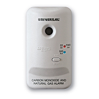 USI MCN400 Smart Plug-In Carbon Monoxide / Natural Gas Alarm, Battery Backup
