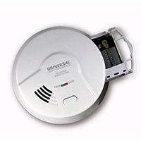 USI 976LR Battery Powered Ionization Smoke and Fire Alarm, Quick Battery Change
