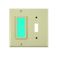 LimeLite Ivory Wallplate Green Toggle SideLite 2018 Night Light